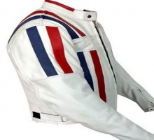 Armor-Striped-White-Color-Bikers-Racing-Leather-jacket-back-2