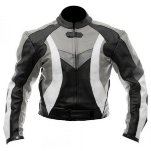 Stylish Motorcycle Black & Grey Biker Jacket