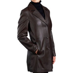 A 3 -button Black Matrix Long Coat