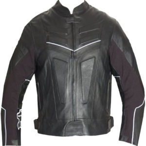 A Armor Motorcycle Leather Racing Jacket In Black