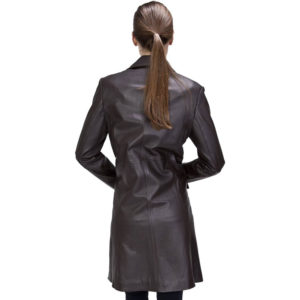 A Discipline Women's Leather Walking Trench Coat