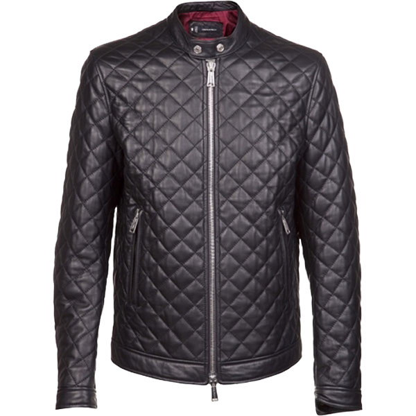 A Quilted Men S Bomber Leather Jacket Leather Jackets Usa
