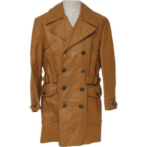 A special Charcoal Long Length Men Leather Coat