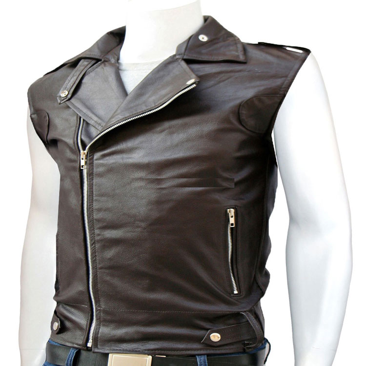 A stylish Leather Vest For Men - Leather Jackets USA