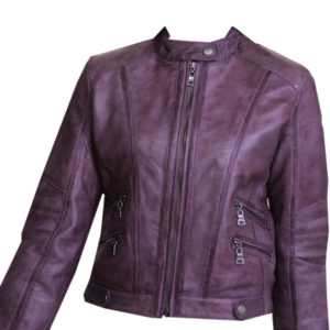 Antique-style-biker-jacket-for-ladies