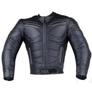 BLADE ARMOR MOTORCYCLE RIDING BIKER LEATHER JACKET IN BLACK