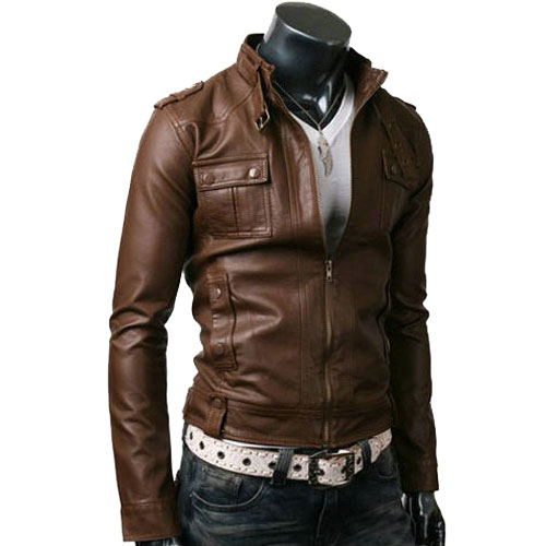 Bomber Biker Motorcycle Slim Fit Leather Jackets - Leather Jackets USA