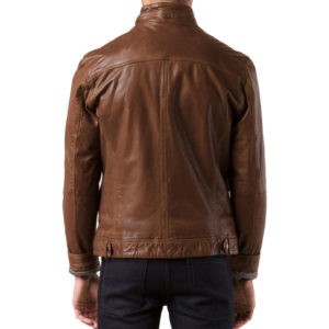 Brown Color Men bomber leather jacket