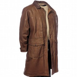 Duster Long Leather Coat