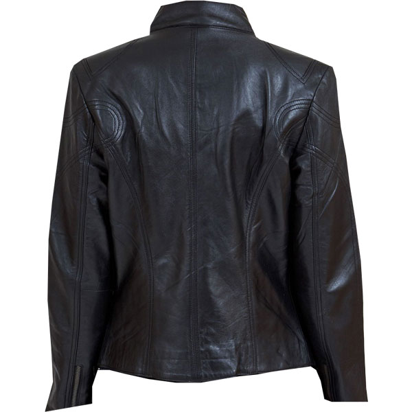 Eye-catching black leather biker jacket for Ladies - Leather ...