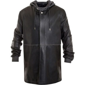 Leiden Leather Parka Coat For Men