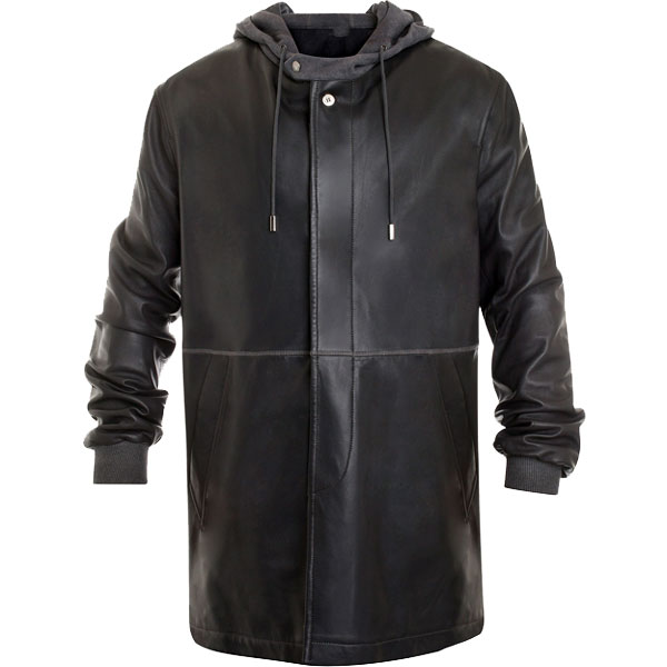 Leiden Leather Parka Coat For Men - Leather Jackets USA