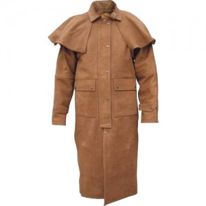 Long Leather Coat With Special Shoulder For Men