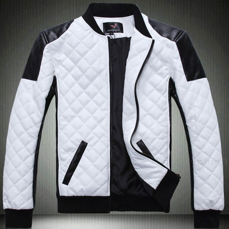 Men's Fashion Slim Fit White Bomber leather Jacket - Leather ...