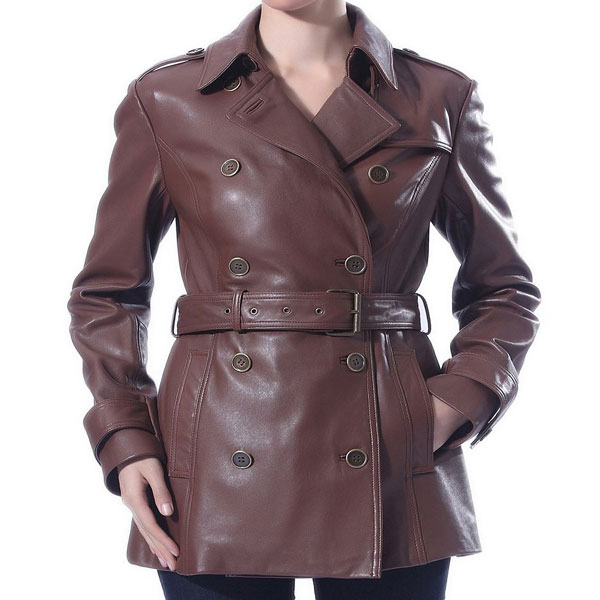 removable belt trench leather coat leather jackets usa