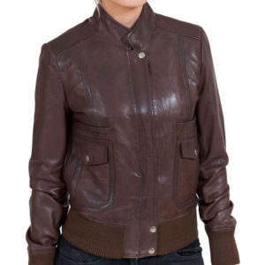 Women's-Brown-Leather-Bomber-Jacket