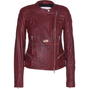 A-Stylish-Burgundy-fashion-Leather-Jacket-For-Women