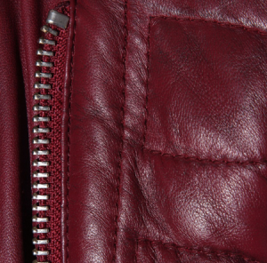 Burgundy fashion Leather Jacket