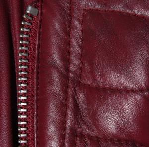 Burgundy fashion Leather Jacket