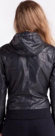 Women's-Bomber-Leather-Jacket-black-back