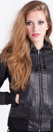 Women's-Bomber-Leather-Jacket-in-black
