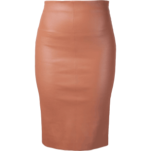 women-copper-color-pencil-skirt-front