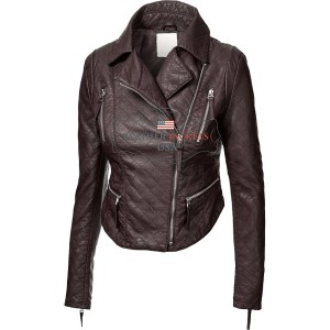 Faux Rider Leather Jacket For Women