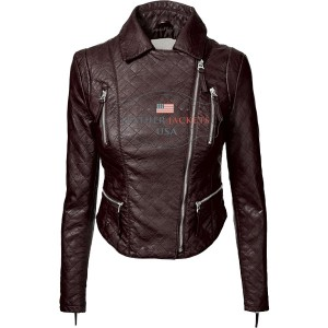 Rider-Faux-Leather-Jacket-For-Women-back