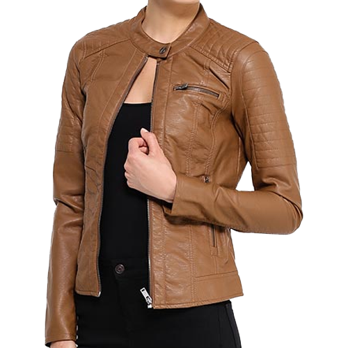Brown Soft Leather Jacket For Women - Leather Jackets USA