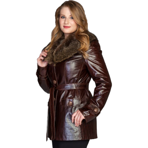 Golden Long Leather Jacket