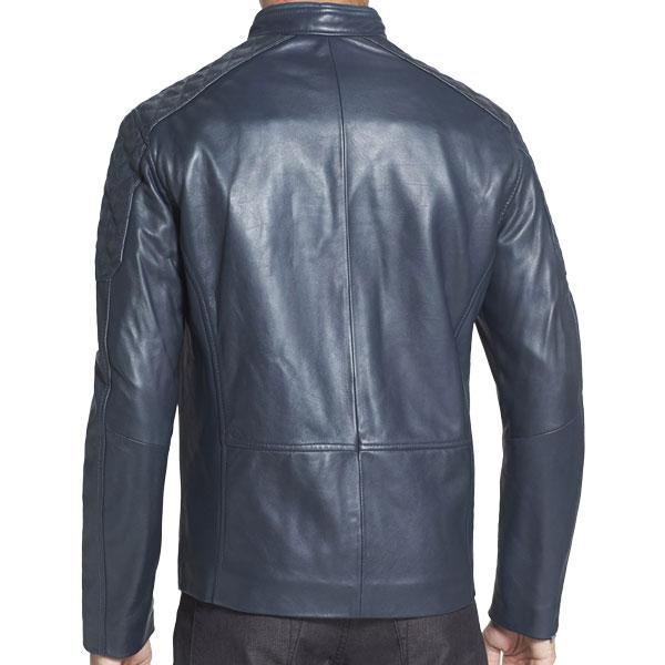 Elite Fashion Men's Blue Leather Jacket - Leather Jackets USA