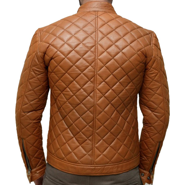 Handcrafted Extreme Fashion Quilted Leather Jacket - Leather ... : quilted leather jacket mens - Adamdwight.com