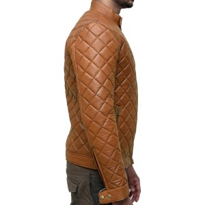 Extremely Quilted and Fashioned Leather Jacket