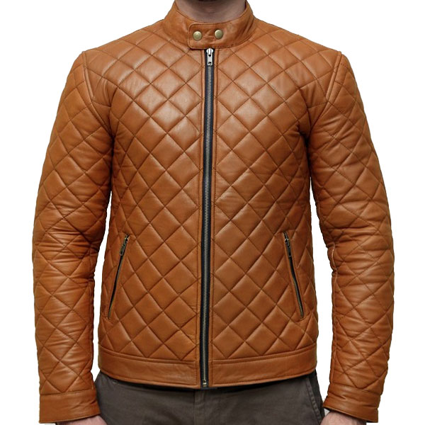 f3dae34087b2 Handcrafted Extreme Fashion Quilted Leather Jacket - Leather Jackets USA