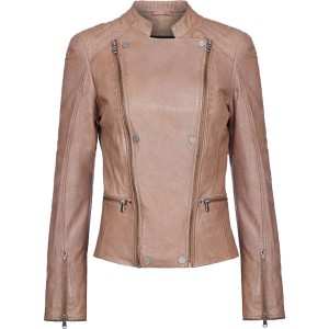 Snow Queen Leather Jacket For Women
