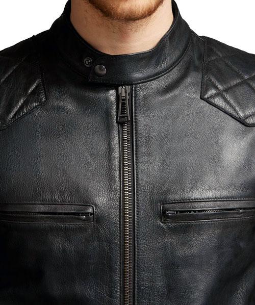 David Beckham Black Vintage Leather Jacket