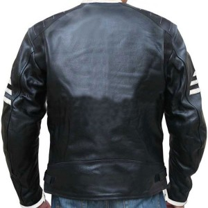 Ghost Rider Style Black Leather Jacket