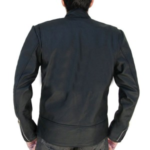 Jumper Movie Style Black Leather Jacket back