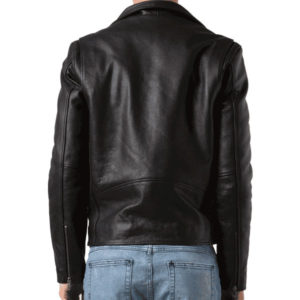 Black color G eazy Leather Jack backside