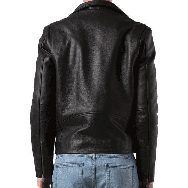 Black color G eazy Leather Jack backside